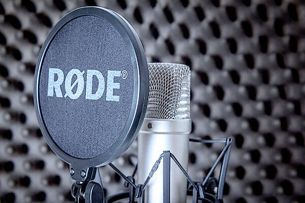 Pete Edmunds Voiceover Studio Recording Booth Rode Microphone