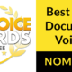 2019 one voice awards best male performance television documentary banner