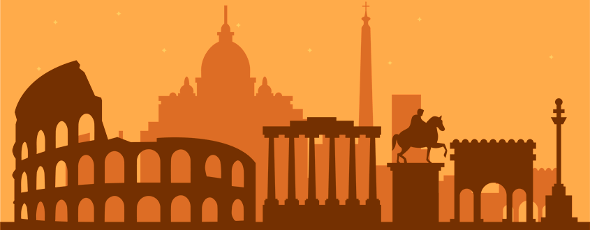Rome Documentary Voiceover Silhouette Monuments City