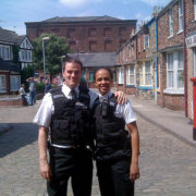 Coronation Street Television - PeteEdmunds as PC-Smith AngelaMurray as WPC-Jones